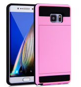 Samsung Galaxy S8 Plus Case,Inspirationc Dual-Layer Hybrid Armour Wallet Case for Samsung Galaxy S8 Plus--Pink