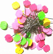 TECH-P 5.1cm Multi-colour Dressmaking Straight Pins Head Pins For Sewing DIY Arts & Crafts Projects-200 Pack