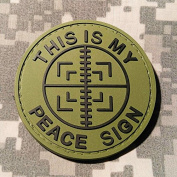 This Is My Peace Sign PVC Rubber Morale Patch by NEO Tactical Gear Morale Patch - Hook Hook and loop Sewn On Back