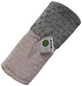 Cosy Wozy Signature Minky Baby Blanket, Light Pink/Silver, 80cm x 90cm