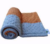 Cosy Wozy Signature Minky Baby Blanket, Rust Orange/Silver, 80cm x 90cm