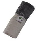 Cosy Wozy Signature Minky Baby Blanket, Cream/Charcoal Grey, 80cm x 90cm