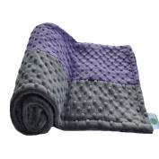 Cosy Wozy Signature Minky Baby Blanket, Purple/Charcoal Grey, 80cm x 90cm