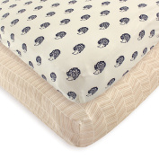 Touched by Nature Organic Fitted Crib Sheets, Hedgehog