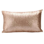 DATEWORK Sequins Sofa Bed Pillow Case Cushion Cover Home Decoration