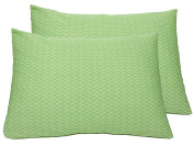 "2 Toddler Pillowcases in GOTS-Certified Organic Cotton to Fit 13"" x 18"" Pillow, Geo Leaf Print"