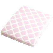 Kushies Baby Portable Play Pen Sheet, Pink Lattice