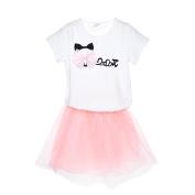 Samber Grils Skirt Bubble Skirt Sweet Skirt Top and Skirt Sets Cotton Top