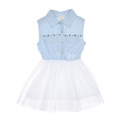 Samber Girls Dress Dress Splicing Tutu Dress Sweet Summer Dress for Baby Girls