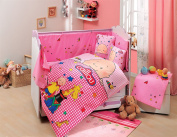 Caillou - Baby Deluxe Duvet Cover Set - 100% Cotton - 4 pieces (Pink) - Made in Turkey