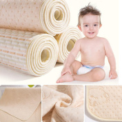 MBJERRY Infant Bamboo Fibre Waterproof Changing Pad - Natural Organic Cotton Crib Mattress - Reusable Portable Changing Mat for Home and Travel