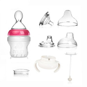 Feeding Bottle,MUAI 3 IN 1 Multi-functional BPA FREE Silicon Bottle Gift Set