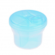 Non-Spill Rotating Milk Powder Formula Dispenser Portable Food Container 3 Compartments Storage Feeding Infant Newborn Snack Box