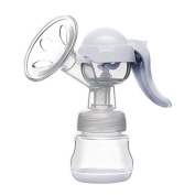 Breast Pump,Manual Breast Feeding Pump,Strong Suction Hands Milk Collector Milk Saver, 100% Food Grade,Fits All Breast Sizes Easy To Use,with Pacifier