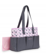 Baby Boom 6 Pocket Tote Nappy Bag, Polka Dot