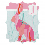 DENY Designs Jennifer Hill, Miss Jack Rabbit, Quatrefoil Clock, Small