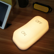 Lucky2Buy Cordless Night Light, Modern Switch Design Gravity Sensing Nursery Light, Tilt Activated Kid's Bedside Lamp Yellow
