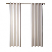 White Window Drapes Treatment Printed Polyester Insulated Blackout Window Panel Curtains for Living Room Bathroom Kitchen Set of 2 Panels 130cm X 210cm