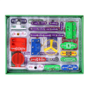 VFENG 335 Electric Circuit Kits, Educational Science Kit Toy,Great DIY Circuit Experiments Set for Kids With 31 Snap-Together parts