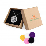 Clementine Essential Oil Jewellery Diffuser Necklace Stainless Steel 60cm Chain