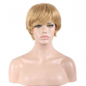 RightOn 12'' Short Curly Cool Wigs for Cosplay Party or Daily Use Fun Wig with Wig Cap