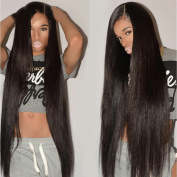 YIROO Brazilian Virgin Human Hair 3 Bundles 6A Straight Hair Weft 95-100g/PC Silky Remy Hair Extensions Natural Black Colour