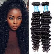 BLY Hair Malaysian Virgin Hair Deep Wave 3 Bundles Unprocessed Human Hair Weft Extensions Natural Colour 95-100g/piece