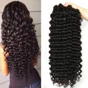 Jaycee Hair 7a Brazilian Virgin Hair Deep Wave 46cm 50cm 60cm 60cm Weft 4 Bundles 100% Unprocessed Human Hair Extensions Natural Colour (100+/-5g)/pc