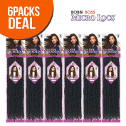 Bobbi Boss Synthetic Hair Crochet Braids African Roots Braid Collection Micro Locs 46cm