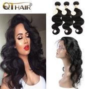 QTHAIR Brazilian Body Wave Virgin Hair 3 Bundles 10 12 36cm 100% Remy Human Hair Virgin Brazilian Hair Weaves Natural Black