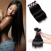 Shengmeiyuan Beauty Show 8-80cm 100% Unprocessed 7A Brazilian Straight Virgin Hair 3Bundles Human Hair Weave Extensions Natural Black Colour