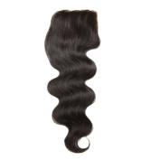 Longqi Hair Brazilian Body Wave Lace Closure 1PC 44 100% Unprocessed Human Hair Extensions Natural Colour