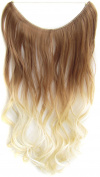 Flip In Wavy Curly Ombre Dip Dye Synthetic Hair Extension Secret Miracle Heat Resistance Hair Wire Hair Pieces No Clip for Women 50g 60cm 1PC