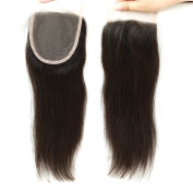 BLACKMOON HAIR 25cm Straight Free Part Lace Closure 130% Density 10cm ×10cm Unprocessed Brazilian Virgin Remy Human Hair Lace Closure