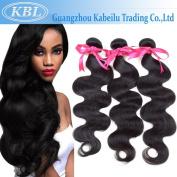 KBL Grade 5A 3 Bundles Brazilian Body Wave Brazilian Virgin Remy Human Hair Natural Black 300G