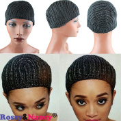 Rossy & Nancy Black Braids Cap for Easier Sew Hair Weft Designed for Those Who Suffered From Hair Loss Braided Wig Cap by Rossy & Nancy