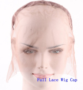 Superwigy Silk Swiss Lace Net Stretch Wig Cap Full Lace Cap and Lace Front Cap with Adjustable Straps for Making Wigs