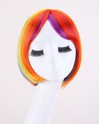 Keepyonger New fashion wig natural hair long life-like women long wavy wigs with bang Haircut Han edition Short Bob kanekalon braiding synthetic wigs