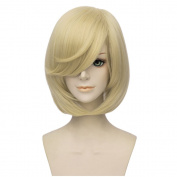 Flovex Short Straight Blonde Anime Cosplay Wigs Costume Party Daily Hair