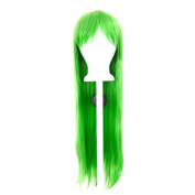 Tomoyo - Lime Green Wig 80cm Long Straight Cut w/ Long Bangs