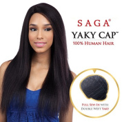 Saga Remy Human Hair Wig Yaky Cap 60cm