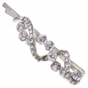 Various Design Faux Crystal Rhinestone Hair Barrette Clip Pin Grip Accessory