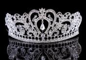 ThyWay Vintage Crystal Diamond Bride Bridal Wedding Hair Head Band Wear Rhinestone Jewellery Headdress Headband Tiara Coronal Big Crown Pageant