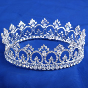 FUMUD Women's Luxury Crystal Tiara Shining Rhinestone Crown for Pageant Wedding Bridal Beauty Contest Prom Party