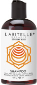 Laritelle Organic Travel Size Shampoo 60ml | Hair Loss Prevention, Clarifying, Strengthening, Follicle Stimulating | Argan Oil, Rosemary & Palmarosa | NO GMO, Sulphate, Alcohol, Paraben, Phthalate | GF