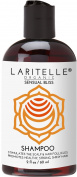 Laritelle Organic Travel Size Shampoo 60ml | Hair Loss Prevention, Clarifying, Strengthening, Follicle Stimulating | Argan Oil, Rosemary & Palmarosa | NO GMO, Sulphate, Alcohol, Paraben, Phthalate | GF