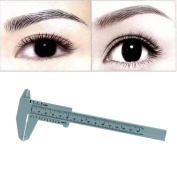 FTXJ 1PC Microblading Makeup Permanent Eyebrow Measure Guide Ruler Reusable Tools