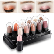 Joly 12 Colours Shimmer Smoky Eyeshadow Pencil Waterproof Eyeliner Pen Two Series for Your Choice