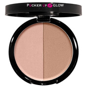 Contouring Powder in Afternoon Delight a Duo of Shimmering Peach and Deep Bronze Shades Perfectly Coordinated in a Silky Powder to Sculpt Define and Highlight the Face