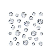 enForten 1440pcs DIY Nail Art Designs Sets Clear Crystal Rhinestones Flatback Gems Diamond Decorations 4mm